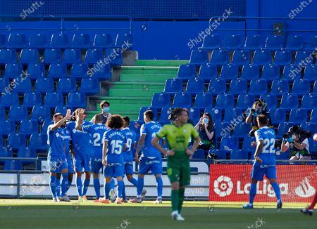 Stock Photo of Oghenekaro Etebo (Getafe CF) during the La Liga match round 30 between Getafe CF and SD Eibar at Alfonso Perez Stadium. (Final score: Getafe CF 1:1 SD Eibar)