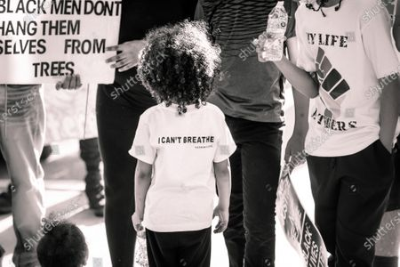 Protesters attend a Juneteenth Black Lives Matter Protest in Lancaster, California