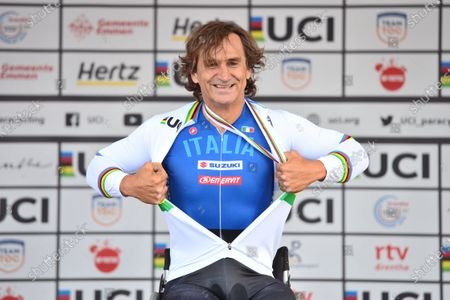 Editorial photo of UCI Para Cycling Road World Championships 2019 Alex Zinardi. Emmen, Netherlands - 13 Sep 2019