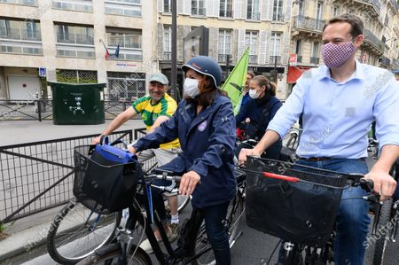 Editorial image of Anne Hidalgo and David Belliard out and about, Paris, France - 21 Jun 2020