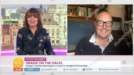 Lorraine Kelly and Dominic Brunt