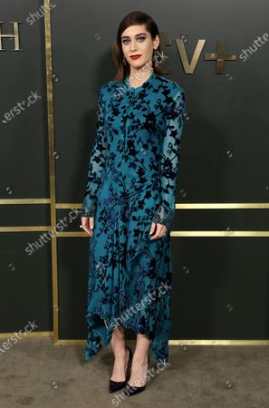 """Stock Photo of Lizzy Caplan attends the Premiere of """"Truth Be Told"""" at the Samuel Goldwyn Theater in Beverly Hills, Calif. Caplan turns 38 on June 30"""