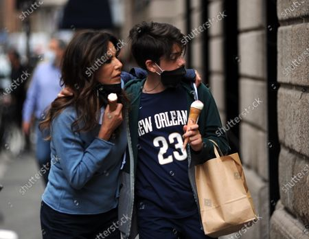 Editorial photo of Emanuela Folliero and Andrea Folliero out and about, Milan, Italy - 11 Jun 2020