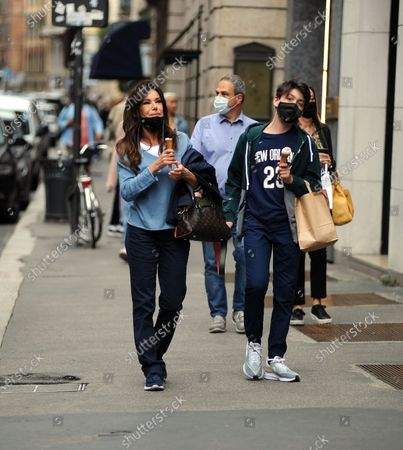 Editorial picture of Emanuela Folliero and Andrea Folliero out and about, Milan, Italy - 11 Jun 2020