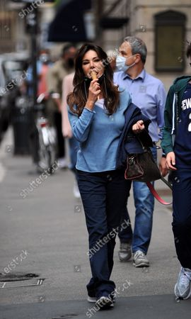 Editorial image of Emanuela Folliero and Andrea Folliero out and about, Milan, Italy - 11 Jun 2020