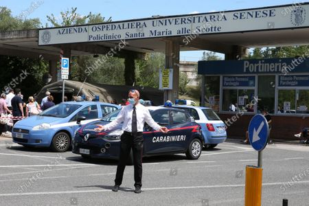 The exterior of the Siena hospital 'Le Scotte'where the Italian driver Alex Zanardi is hospitalized after the road accident during one of the stages of the relay of Obiettivo tricolore, near Siena, Italy, 22 June 2020. Four-time paralympic champion and former Formula One driver Alex Zanardi was involved in a serious road accident on 19 June in the province of Siena while taking part in a race on his handbike during one of the stages of the relay of Obiettivo tricolore.