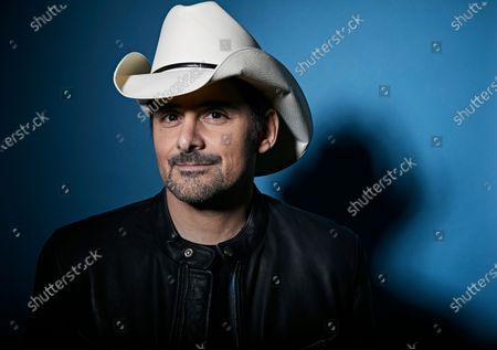 "This photo shows country singer Brad Paisley posing for a portrait in New York. Paisley will perform in Live Nation's ""Live from the Drive-In,"" concert series taking place July 10-12"