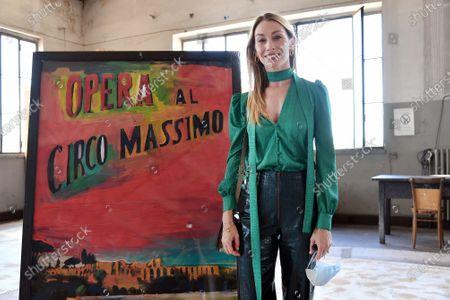The dancer Eleonora Abbagnato, Director of the corps of ballet of Rome Opera Theatre during the press conference