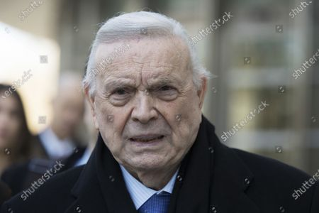"""Jose Maria Marin leaves federal court in the Brooklyn borough of New York. The criminal convictions of former soccer officials Juan Ángel Napout and José Maria Marin have been upheld in a 3-0 decision by a U.S. federal appeals court. """"Napout and Marin argue principally that their convictions rest upon impermissible extraterritorial applications of the honest services wire fraud statute,"""" the panel wrote in a decision announced"""