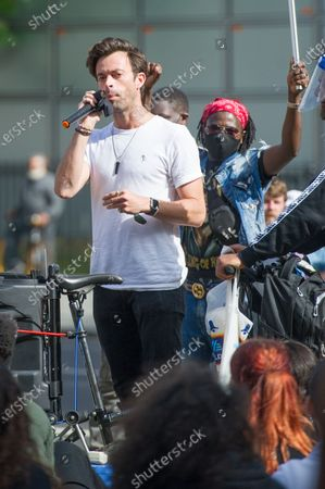 Jolyon Rubinstein speaks at a Black Lives Matter protest in Parliament Square in London