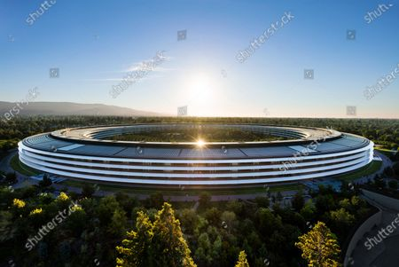 Handout image released by Apple showing Apple Park where the 2020 Apple Worldwide Developers Conference (WWDC) at Steve Jobs Theater in Cupertino, California, USA 22 June 2020. WWDC, in its 31st year and held virtually for the first time, runs through June 26.