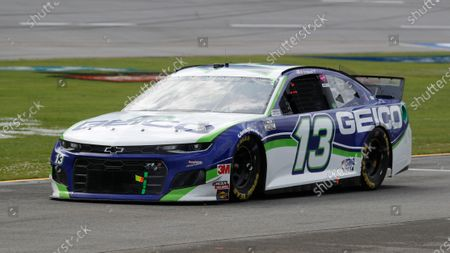 Ty Dillon (13) runs during the NASCAR Cup Series auto race at the Talladega Superspeedway in Talladega Ala