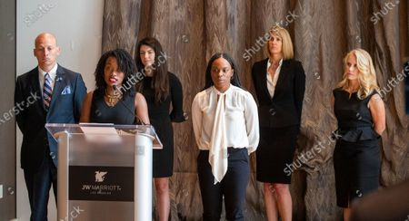 Editorial picture of Tyndall survivor press conference, Los Angeles, USA - 18 Jun 2020