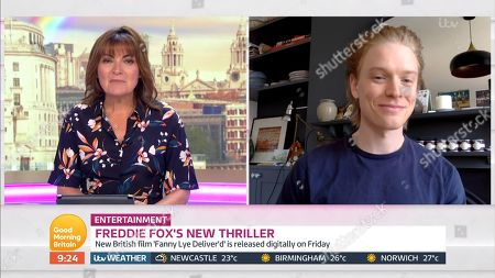 Stock Picture of Lorraine Kelly, Freddie Fox