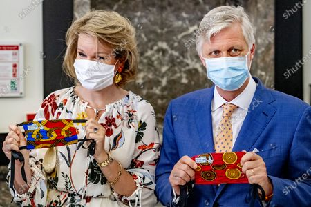 Queen Mathilde and King Philippe visit the Institute of Tropical Medicine, Antwerp