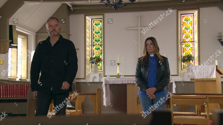 Emmerdale - Ep 8806 Friday 10th July 2020 Harriet Finch, as played by Katherine Dow-Blyton is meeting Malone, as played by Mark Womack in the church telling him she doesn?t want him around anymore, but he makes it clear that he?s not going anywhere. Harriet is left feeling threatened but also a little turned on by the danger of him. Eventually, she succumbs to his charms.