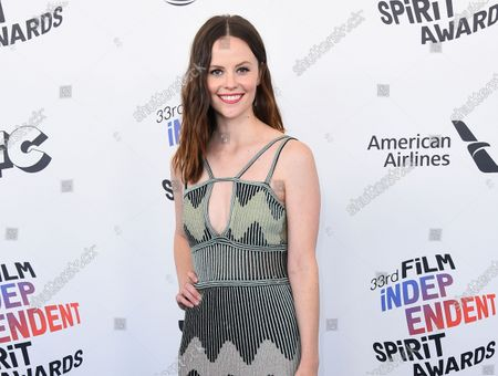 Actress Sarah Ramos arrives at the 33rd Film Independent Spirit Awards in Santa Monica, Calif. Ramos has recreated other notable scenes from TV and film and aims to post one a week online during the downtime caused by the outbreak of COVID-19. She calls them quarantscenes. Sometimes a friend such as Dylan O'Brien, Aubrey Plaza or Elle Fanning appear, but Ramos usually acts out all the parts herself