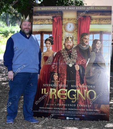 Stefano Fresi poses during a photocall for 'Il Regno' (lit.: The Kingdom) in Rome, Italy, 23 June 2020. The movie will be available in streaming from 26 June 2020 on.