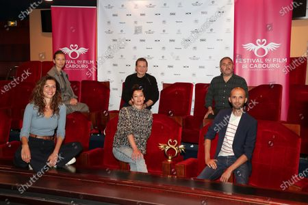 The Grand Jury, Doria Tillier, Isild Le Besco, Benoit Magimel, Aurelie Dupont, Ahmed Hamidi, Issam Krimi pose during the photocall of 34th edition of the Cabourg Film Festival, Romantic Days at Club de l'etoile, Paris, France, on June 12, 2020.