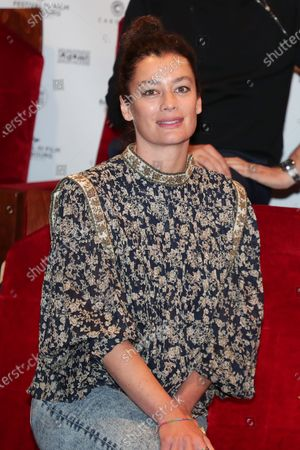 Aurelie Dupont poses during the photocall of 34th edition of the Cabourg Film Festival, Romantic Days at Club de l'etoile, Paris, France, on June 12, 2020.