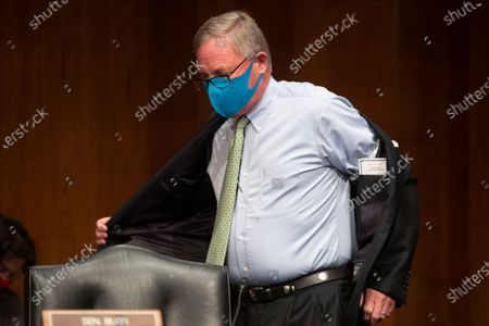 Republican Senator from North Carolina Richard Burr arrives to attend the US Senate Health, Education, Labor, and Pensions Committee hearing to examine COVID-19, 'focusing on lessons learned to prepare for the next pandemic', on Capitol Hill in Washington DC, USA, 23 June 2020.