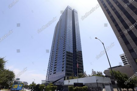 The tower block in Century City where movie Producer Steve Bing lived. Bing took his own life after jumping from his 27th floor apartment