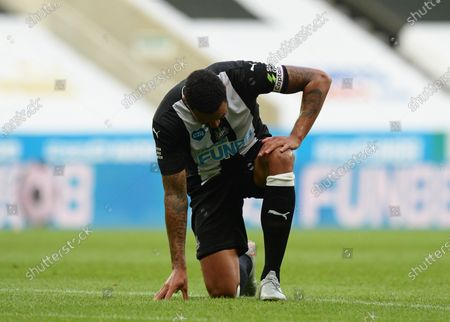 Jamaal Lascelles of Newcastle United after the full time whistle