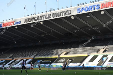 Newcastle United take on Aston Villa in an empty St. James' Park due to Coronavirus protocol