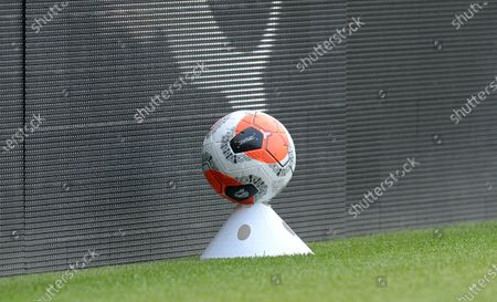 A sterilised match ball on standby