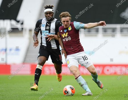 Editorial picture of Newcastle United v Aston Villa, Premier League, Football, St James' Park, Newcastle Upon Tyne, UK - 24 Jun 2020