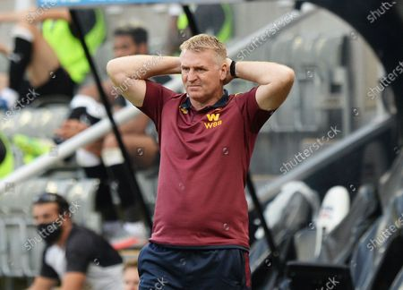 Dean Smith manager of Aston Villa rues a missed chance on goal