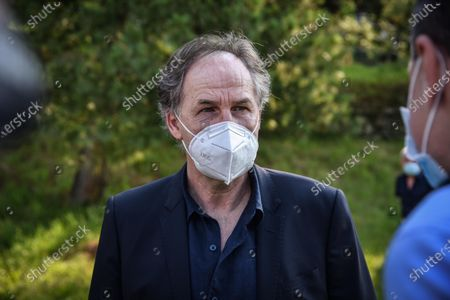 Stock Photo of Former soccer player Franco Baresi attends the funeral of former Milan soccer player Pierino Prati at the sports field of Fabbrica Durini fraction in Alzate Brianza, Como, Italy, 24 June 2020. Pierino Prati died on 22 June 2020 at the age of 73.