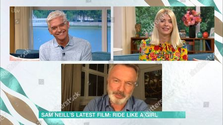 Phillip Schofield, Holly Willoughby and Sam Neill
