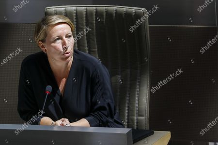 SP.A's Caroline Gennez pictured during a plenary session of the Flemish Parliament in Brussels, Wednesday 24 June 2020.
