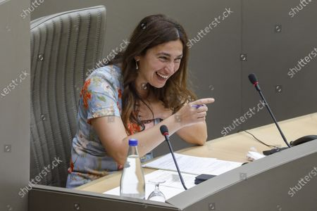 Flemish Minister of Environment, Energy, Tourism and Justice Zuhal Demir pictured during a plenary session of the Flemish Parliament in Brussels, Wednesday 24 June 2020.
