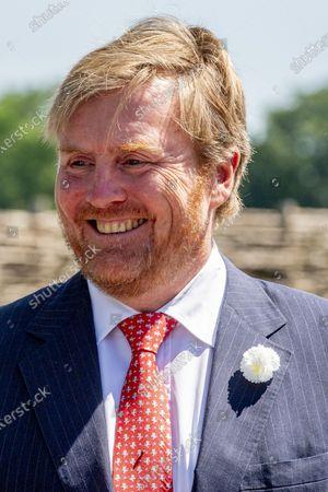 Editorial image of King Willem-Alexander visit to the Dolmen Tombs, Borger, Netherlands - 24 Jun 2020