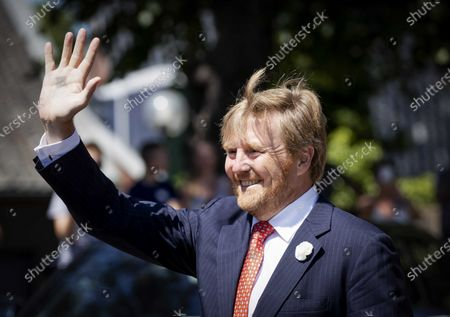 Dutch King Willem-Alexander leaves after a working visit to the cultural center Cultuurpodium VanSlag Borger in the former village church  in Borger, Netherlands, 24 June 2020. The visit to Borger is in the context of the impact of the coronavirus crisis on the culture and leisure sector in the province of Drenthe.