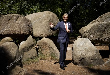 Dutch King Willem-Alexander visits the Hunebedmuseum in Borger, Netherlands, 24 June 2020. The visit to Borger is in the context of the impact of the coronavirus crisis on the culture and leisure sector in the province of Drenthe.