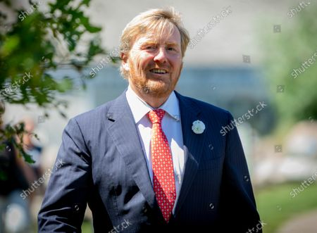 Editorial photo of King Willem Alexander visit to Borger, The Netherlands - 24 Jun 2020