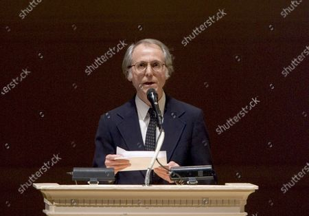 """Author Don DeLillo speaks at """"The Time of His Life"""", A Celebration of the Life of Norman Mailer tribute at Carnegie Hall in New York. DeLillo, known for imagining disaster in """"White Noise,"""" """"End Zone"""" and other works has a novel """"The Silence"""" coming in October that takes place in 2022 amid a digital shutdown in New York City"""