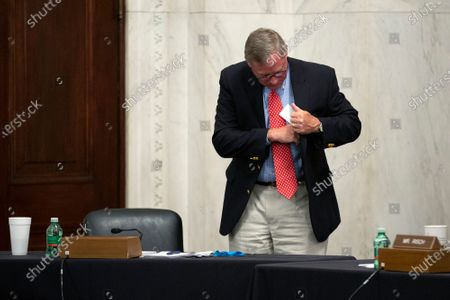 United States Senator Richard Burr (Republican of North Carolina) departs a U.S. Senate Select Committee on Intelligence hearing on Capitol Hill in Washington D.C., U.S.,. The committee was considering the nomination of Peter Thomson to be Inspector General at the Central Intelligence Agency.