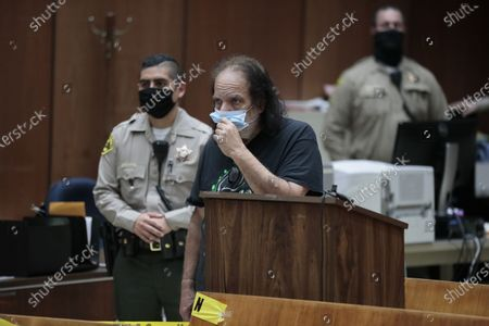 Adult film star Ron Jeremy is charged with sexually assaulting four women in Dept. 30 at LA Superior Court.