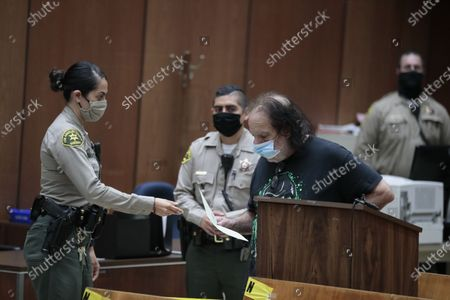Adult film star Ron Jeremy appears in Dept. 30 at LA Superior Court, charged with sexually assaulting four women.