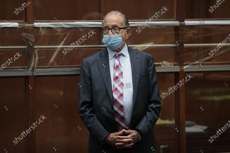 Los Angeles, CA, Tuesday, June 23, 2020 - Attorney Stuart Goldfarb in court representing adult film star Ron Jeremy during his appearance in Dept. 30 at LA Superior Court where he is is charged with sexually assaulting four women.