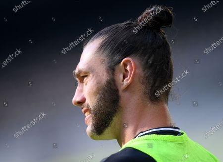 Newcastle substitute Andy Carroll during the English Premier League match between Newcastle United and Aston Villa in Newcastle, Britain, 24 June 2020.