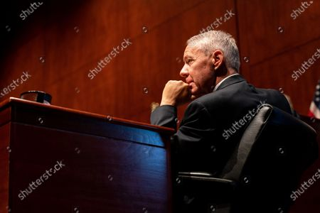 Rep. Ken Buck (R-CO) listens during a House Judiciary committee hearing on 'Oversight of the Department of Justice: Political Interference and Threats to Prosecutorial Independence', on Capitol Hill in Washington, DC, USA, 24 June 2020.