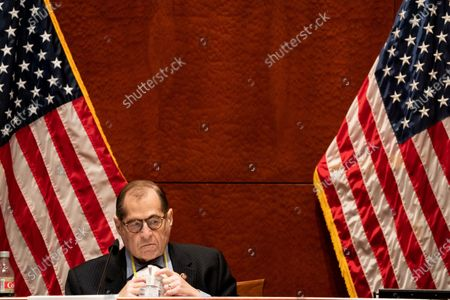 House Judiciary Committee Chairman Jerrold 'Jerry' Nadler (D-NY) listens during a House Judiciary committee hearing on 'Oversight of the Department of Justice: Political Interference and Threats to Prosecutorial Independence', on Capitol Hill in Washington, DC, USA, 24 June 2020.