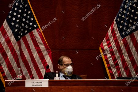 """House Judiciary Committee Chairman Jerrold """"Jerry"""" Nadler (D-NY) listens during a House Judiciary committee hearing on 'Oversight of the Department of Justice: Political Interference and Threats to Prosecutorial Independence', on Capitol Hill in Washington, DC, USA, 24 June 2020."""