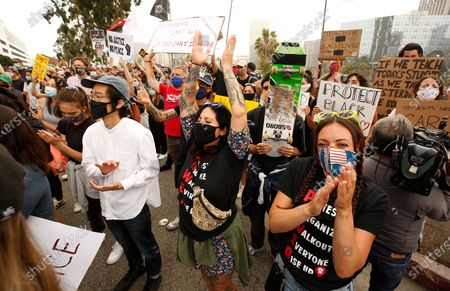 Editorial picture of Black Lives Matter protest, Los Angeles, USA - 23 Jun 2020