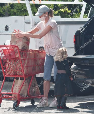 Editorial photo of Brook Burns out and about, Los Angeles, California, USA - 24 Jun 2020